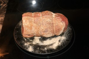beef rubbed with seasoings